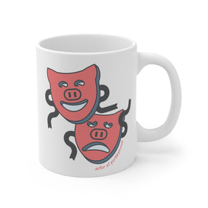 .actor Porkbun mascot mug
