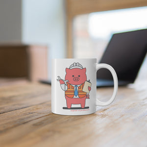.engineer Porkbun mascot mug