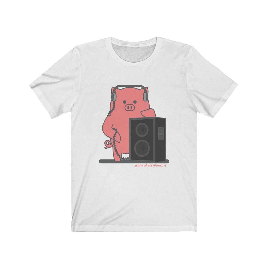 .audio Porkbun mascot t-shirt