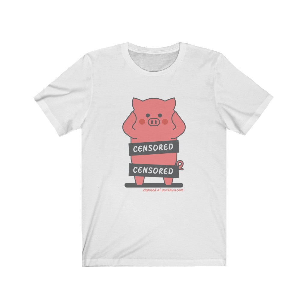 .exposed Porkbun mascot t-shirt