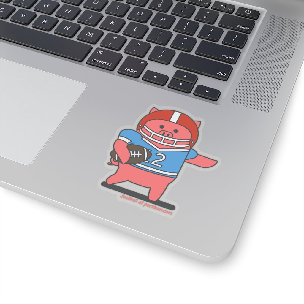 .football Porkbun mascot sticker