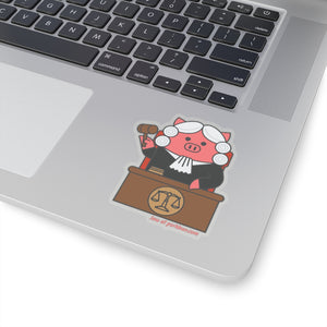 .law Porkbun mascot sticker