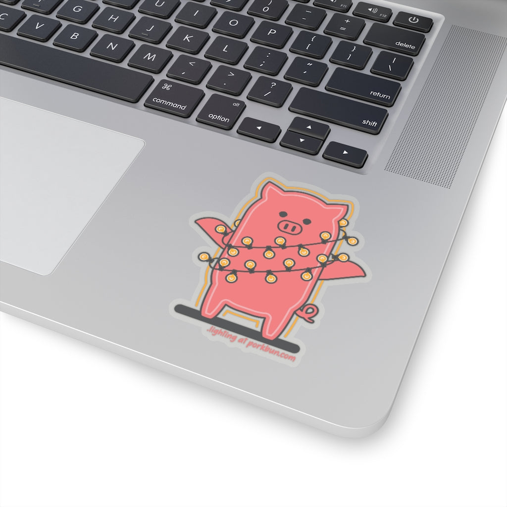 .lighting Porkbun mascot sticker
