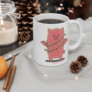 .lighting Porkbun mascot mug