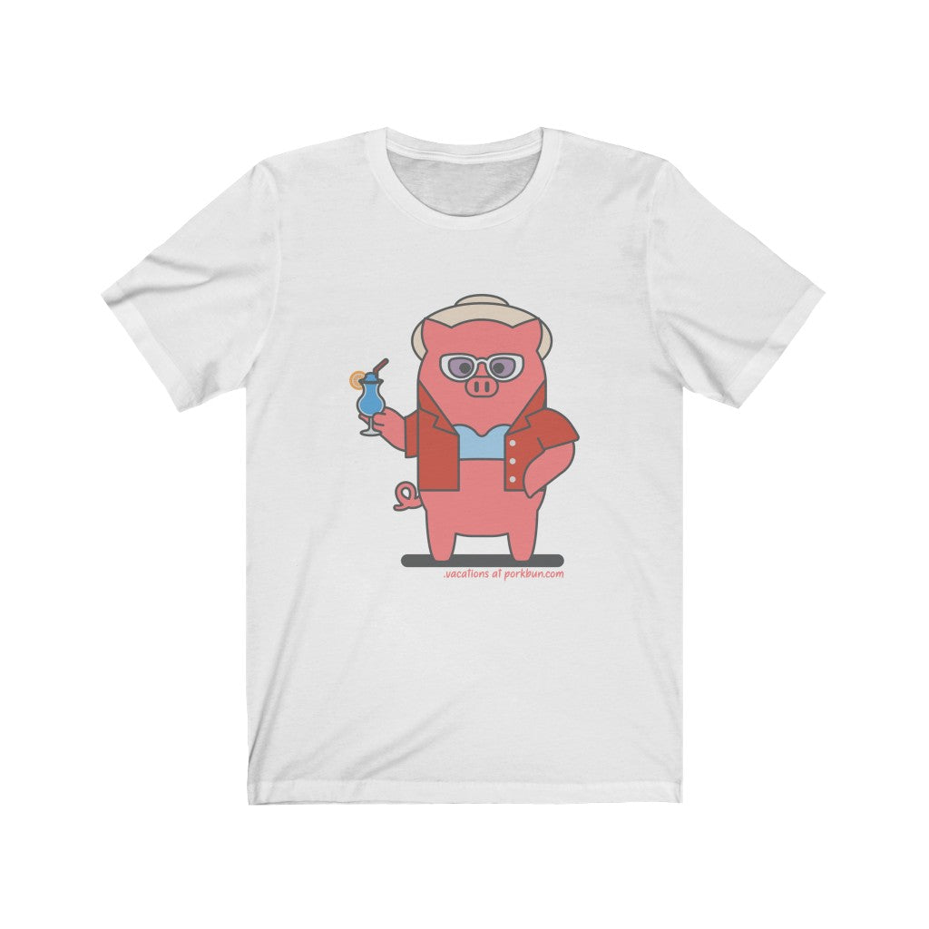 .vacations Porkbun mascot t-shirt
