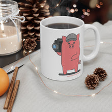 Load image into Gallery viewer, .camera Porkbun mascot mug