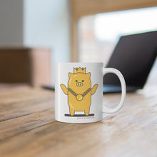 Load image into Gallery viewer, .gold Porkbun mascot mug