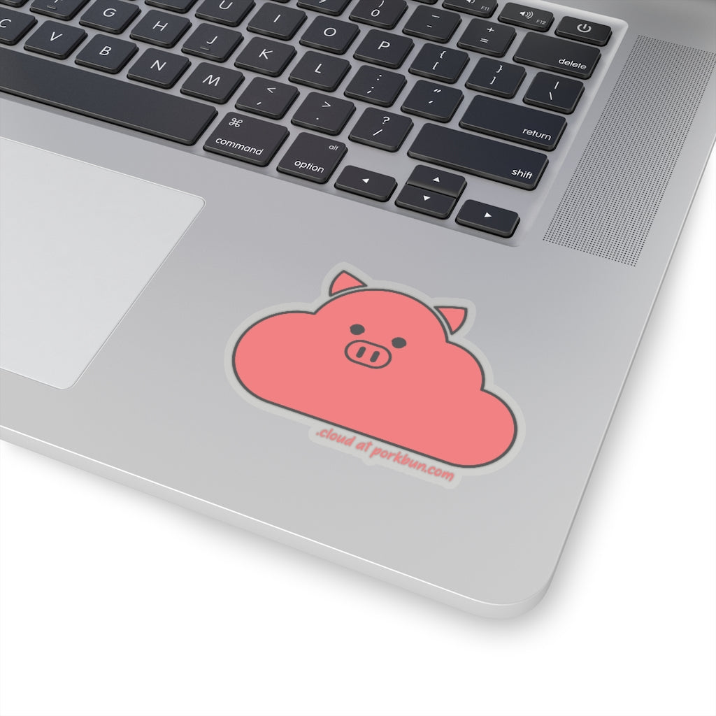 .cloud Porkbun mascot sticker
