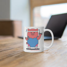 Load image into Gallery viewer, .fitness Porkbun mascot mug