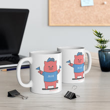 Load image into Gallery viewer, .blue Porkbun mascot mug