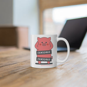 .exposed Porkbun mascot mug