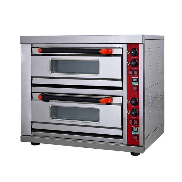 Electric Pizza Oven Two Deck Two Tray With Stone HGB-202 DS