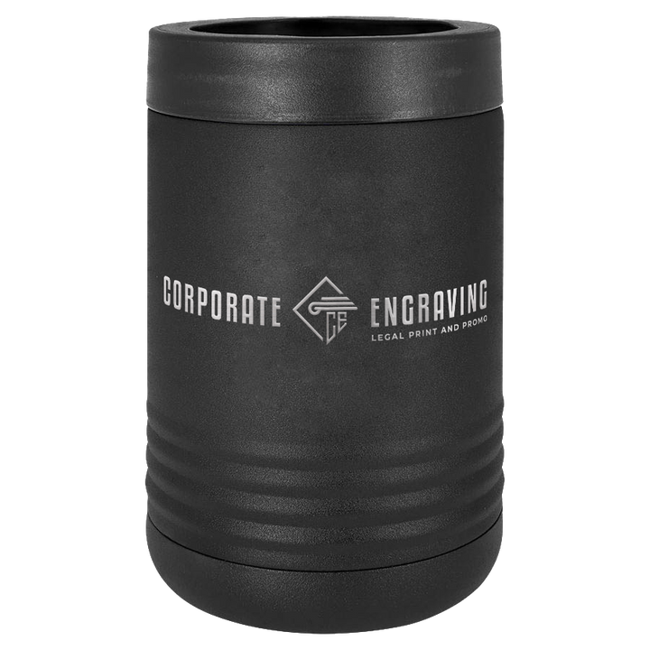 Beverage Holder Drinkware Corporate Engraving Black