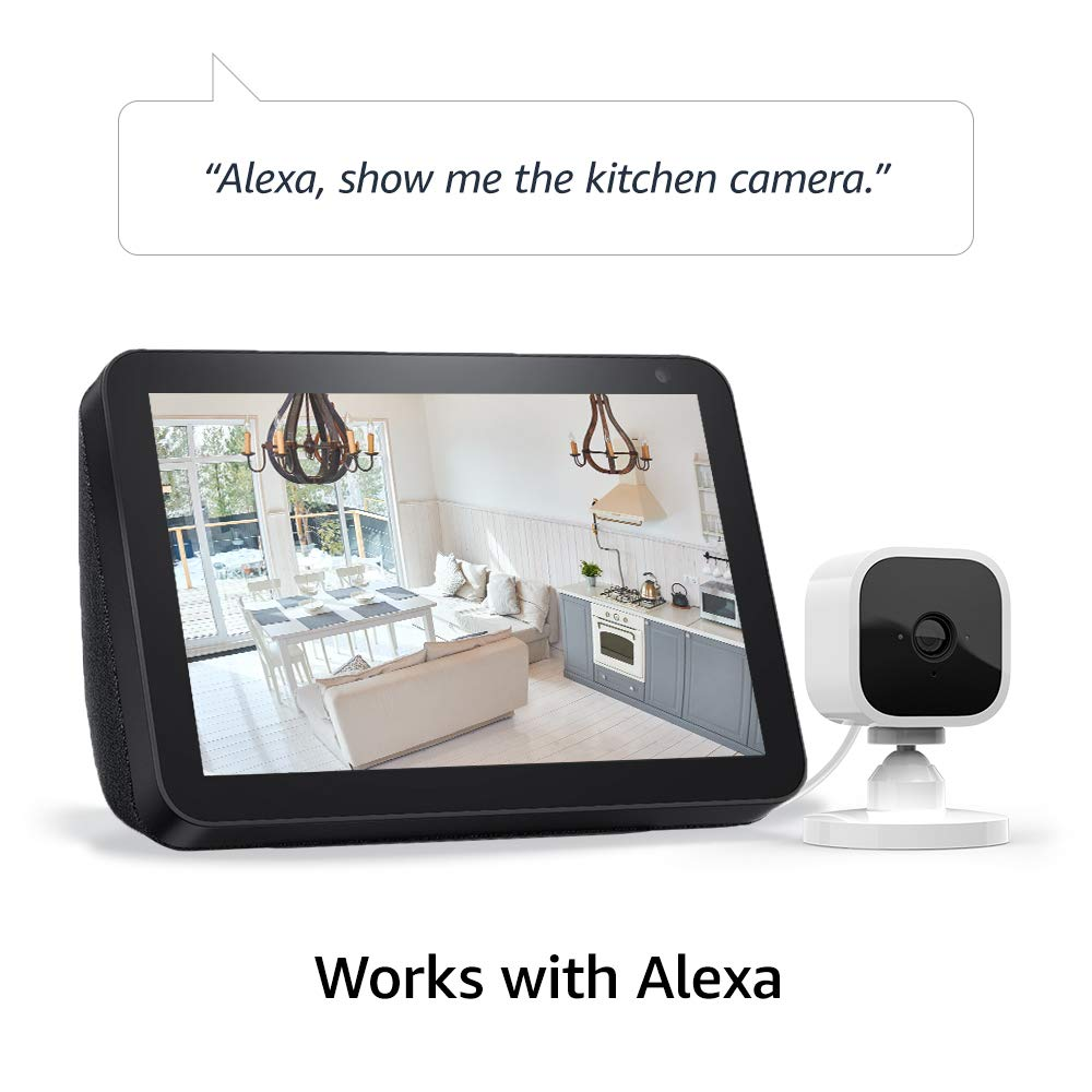 Introducing Blink Mini – Compact indoor plug-in smart security camera, 1080 HD video, motion detection, Works with Alexa – 1 camera