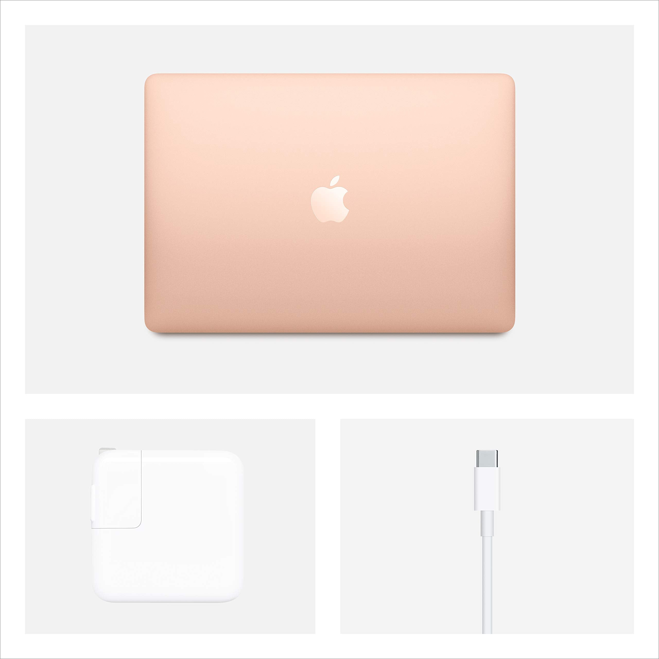 Apple MacBook Air (13-inch, 8GB RAM, 256GB SSD Storage) - Gold (Latest Model)
