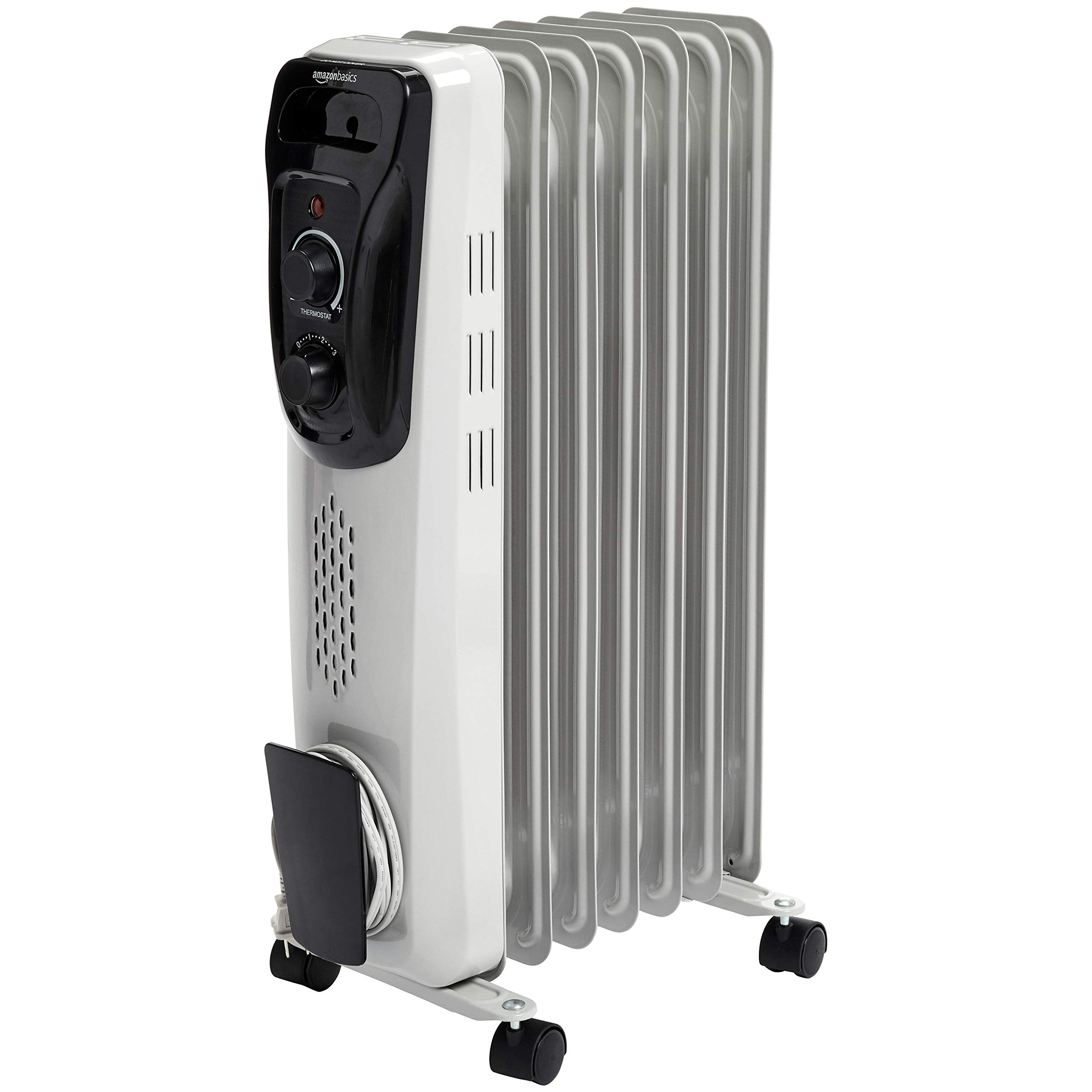 AmazonBasics Indoor Portable Radiator Heater - White