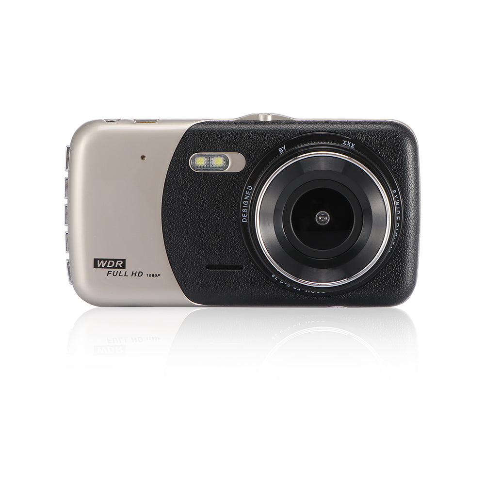 "4"" Dual Lens 1080P FHD 1.0MP Dash Camera Car DVR"