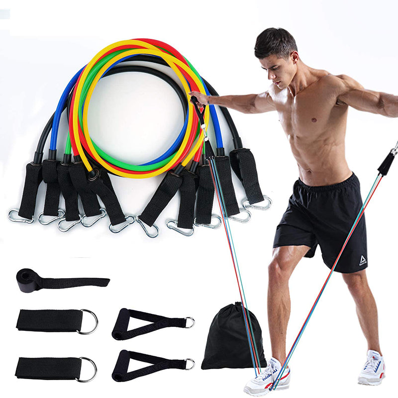 11Pcs Fitness Equipment Resistance Band Set