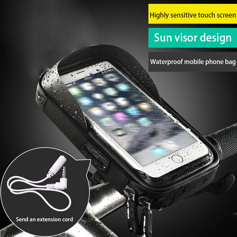 Universal Bike Mobile Support Stand Waterproof Bag