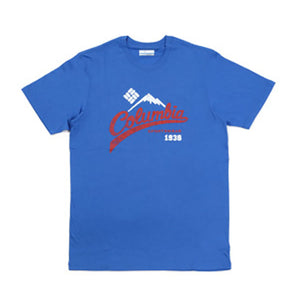 Columbia WEST BLUFFS SHORT SLEEVE TEE SHIRTS STORMY BLUE コロンビア メンズTシャツ ストーミーブルー