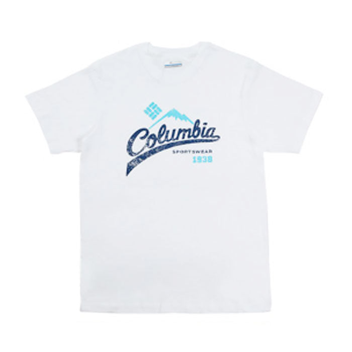 コロンビア メンズTシャツ ホワイト Columbia WEST BLUFFS SHORT SLEEVE TEE SHIRTS WHITE