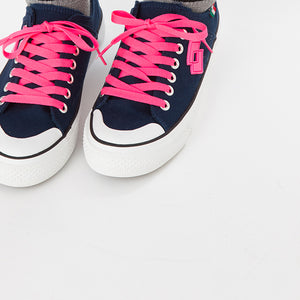LOTTO LIFE'S CANVAS LOW LTS-002L NAVY×PINK ロット ライフス レディースキャンバススニーカーローカット ネイビー×ピンク