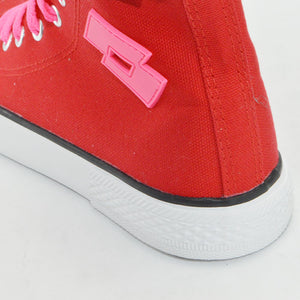 LOTTO LIFE'S CANVAS HIGH LTS-004L RED×PINK ロット ライフス レディースキャンバススニーカーハイカット レッド×ピンク