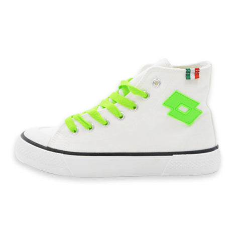 LOTTO LIFE'S CANVAS HIGH LTS-004L WHITE×GREEN ロット ライフス レディースキャンバススニーカーハイカット ホワイト×グリーン