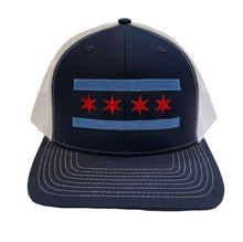 Load image into Gallery viewer, Chicago Flag Trucker Hat