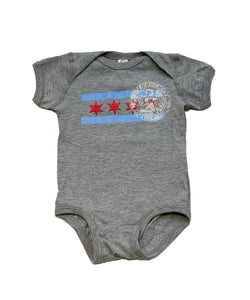 Infant Chicago Flag Onesie