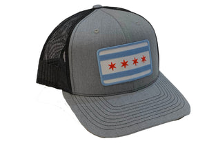 Chicago Flag Patch Trucker Hat