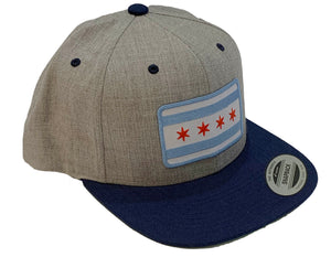 Chicago Flag Patch Snapback Hat