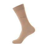 Laulax 4 Pairs Finest men's Combed Cotton Suit Socks in Beige