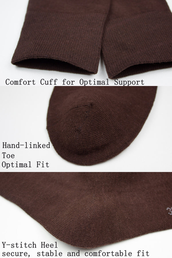 Finest Combed Cotton Formal Socks In Coffee