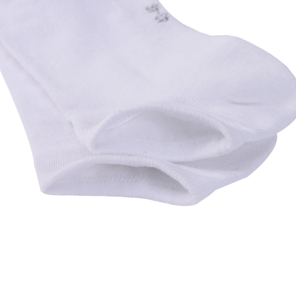 Laulax 6 Pairs Finest Combed Cotton Trainer Socks, White, Size UK 9 - 11 / Europ 43 - 46