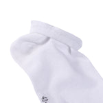 Laulax Ladies 6 Pairs Finest Combed Cotton Arch Support Trainer Socks, White, Size UK 3 - 5