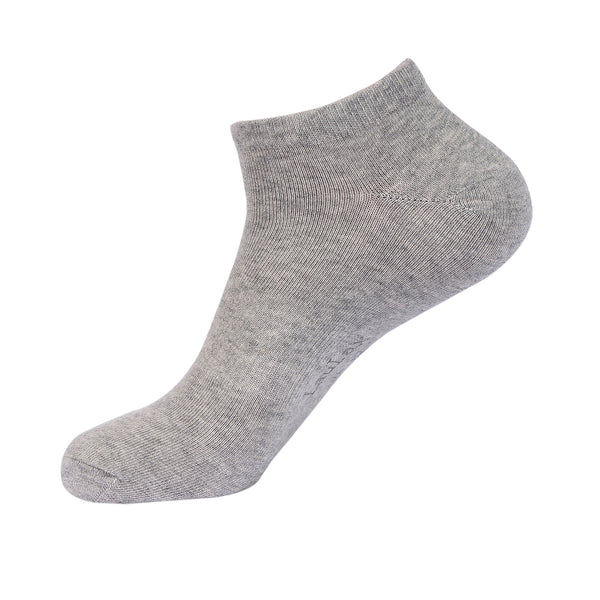 Laulax 6 Pairs Finest Combed Cotton Arch Support Trainer Socks, Grey, Size UK 9 - 11 / Europ 43 - 46
