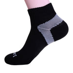 COOLMAX Professional Running Socks - Compression - Black - Size UK 7 - 11