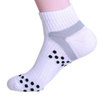 white compression running socks