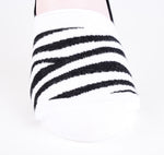 2 Pairs Finest Combed Cotton Invisible Socks Striped Black