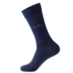 4 Pairs Finest Combed Cotton Business Socks, Navy