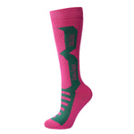 Laulax 3 Pairs Ladies Long Hose Cashmere-Like Ski Socks, Size UK 3 - 7 / Europe 36 - 40, Gift Box, Red, Pink, Blue