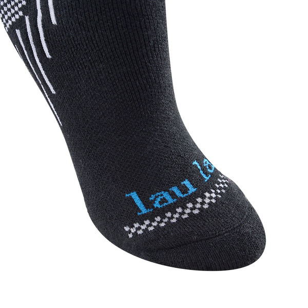Laulax Ladies 2 Pairs High Quality Merino Wool Ski Socks, Gift Bag including socks wash bag, Size UK 3 - 7 / Europe 36 - 40, Gift Box, Black, Pink