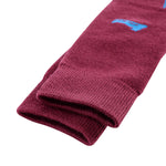 Laulax 2 Pairs High Quality Merino Wool Men's Ski Socks, Size UK 7 - 11 / Europe 40 - 46, Gift Box, Black, Burgundy