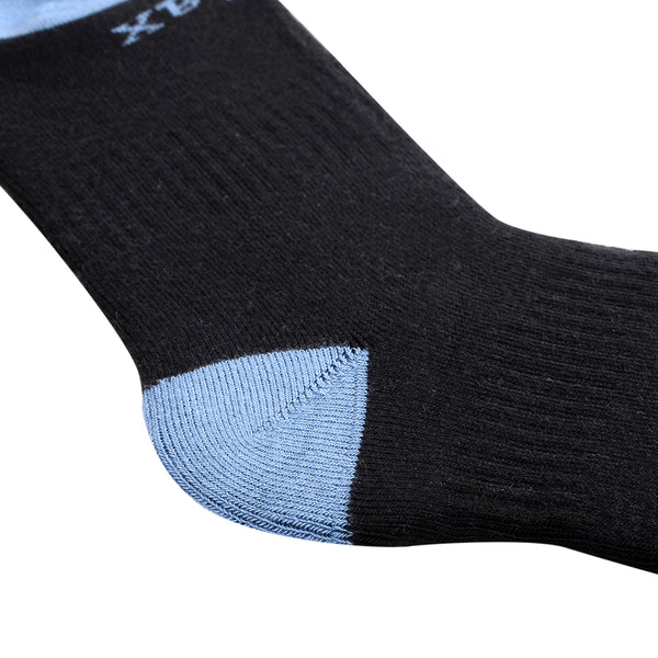Laulax 3 Pairs Mens Cashmere-Like Long Hose Thermal Ski Socks, Gift Set, Size UK 7 - 11 / Europe 41 - 46, Black, Blue, Grey