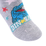 Laulax 6 Pairs Combed Cotton Boys Dinosaur Socks Size UK 6-8.5/Europe 23-26