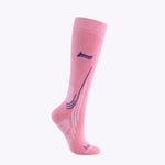 Laulax Ladies 2 Pairs High Quality Merino Wool Ski Socks, Gift Box, Size UK 3 - 7 / Europe 36 - 40, Gift Box, Black, Pink
