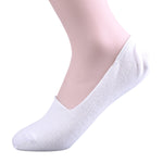 2 Pairs Finest Combed Cotton Invisible Socks Plain White