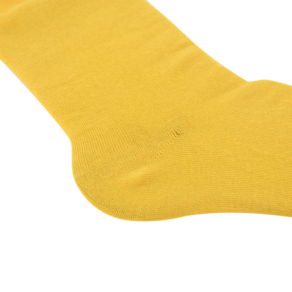 High Quality Formal Finest Combed Cotton Socks In Yellow