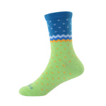 Deep Sea Laulax 6 Pairs Combed Cotton Girl's Socks Size UK 9-11.5/Europe 27-30 Gift Set